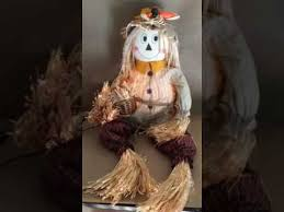 Avon Fiber Optic Halloween Decorations by Avon Fiber Optic Frankie Scarecrow Youtube