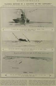 Where Did The Rms Lusitania Sink by Lusitania Ocean Liner 1906 1915 Wreck Wrak Epave Wrack Pecio