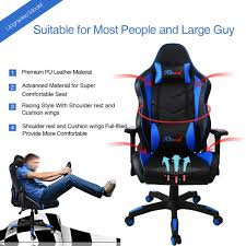 Acrylic Desk Chair With Cushion by Amazon Com Kinsal Ergonomic Leather High Back Swivel Chair With