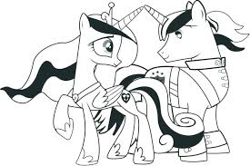 Coloring Pages Princess Luna My Little Pony Page