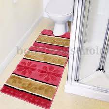 Red And Black Bathroom Rug Set by Bathroom Enticing Purple Anti Slip Bathroom Rug Sets In
