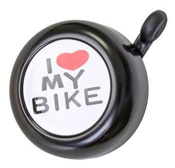 Sunlite Bicycle Handlebar Bell - Chrome Plated, I Love My Bike