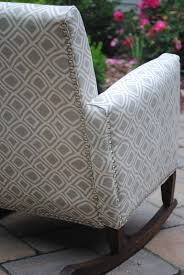 Nailhead Detail On Child's Upholstered Rocking Chair (rocker) | DIY ... Upholstered Rocking Chair Retro Fabric Light Beige Chairs For Sale Nailhead Detail On Childs Upholstered Rocking Chair Rocker Diy Modern Toddler Fabulous With Fniture Antique Design Ideas Walmart For Town Of Indian 5 Year Old Small Toddlers Boy Amazoncom Delta Children Lancaster Featuring Live Pin By Martha_ladies The House Nursery The Latest Childrens