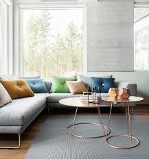 Coffee Table Living Room Trends Emily Henderson CLUSTERED COFFEE TABLE Slipcovered Furniture