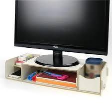 support d écran d ordinateur de bureau étagère à affichage led
