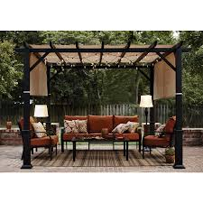 Lowes Canada Patio String Lights by Shop Garden Treasures 134 In W X 134 In L X 92 In H X Matte Black