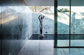 100 Barcelona Pavilion Elevation AD Classics Mies Van Der Rohe ArchDaily