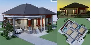 100 Modern House 3 Single Storey Tropical Bedrooms Bathrooms