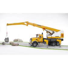 100 Bruder Tow Truck MACK Granite Liebherr Crane 02818 Jadrem Toys Australia