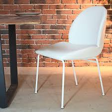 DIANA - Vintage White Leather Dining Chair - FINAL SALE - Wazo Furniture