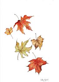 Falling Leaf Drawing
