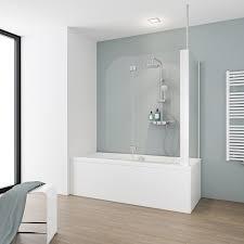 schulte badewannenaufsatz 2 teilig mit seitenwand 116 4 cm x 140 cm echtglas