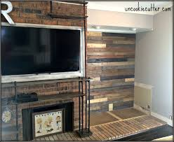 I Created This Mixed Wood Wall With Cheap Paneling From Lowes Leftover Stain And