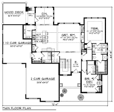 Craftsman Style Floor Plans by 152 Best House Plans 1800 2200 Sq Ft Images On Pinterest