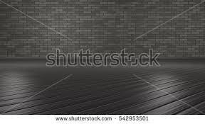 3D Rendering Room The Dark Grey Wood Flooring