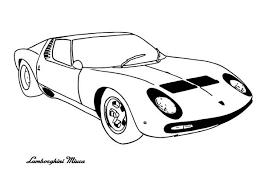 Lamborghini Miura Classic Cars Coloring Pages