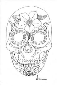 Coloring Pages Astounding Day Of The Dead Picture