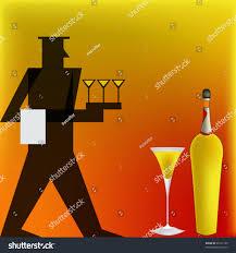 background illustration cocktail bar deco stock vector