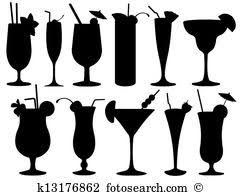 Gold clipart martini glass Pencil and in color gold clipart