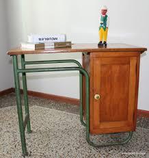 bureau ecolier en bois bureau écolier bois métal inspiration vintage