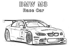 Bmw Race Car Coloring Page