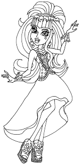Nov 11 2015 Angelina General Monster High 13 Wishes Coloring Pages