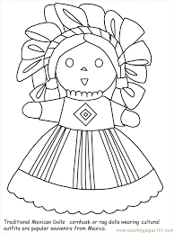 Mexican Coloring 02 Page