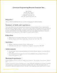 Resume Draft Magnificent Chemical Engineer Sample Nanomedia Example