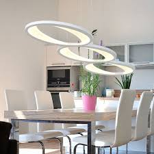 Creative Fashion Led Pendant Lights 36w Strip Hanging Lighting Fixtures For Dining Room Kitchen Living