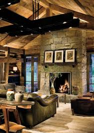Paint Colors Living Room Vaulted Ceiling by Living Room Design With Stone Fireplace Pergola Home Office