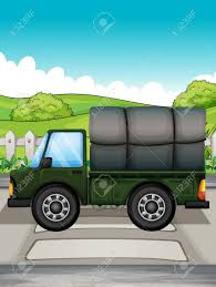 Illustration Of A Big Green Truck Royalty Free Cliparts, Vectors ...