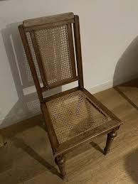 sechs esszimmerstühle antik sitzflächen beschädigt