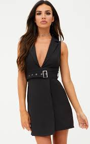 blazer dresses tuxedo style dresses prettylittlething usa