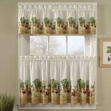 Walmart Bathroom Window Curtains by Decor White And Brown Tier Kitchen Curtains Walmart For Kitchen