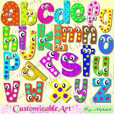 Digital Fun Alphabets Clipart Cute Letters Of The