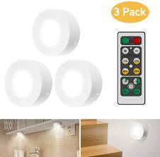 schrankleuchten led mit fernbedienung 3 stück schrankbeleuchtung für schlafzimmer kleiderschrank kabinett küche weiß