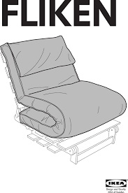 Ikea Massum Fliken Futon Chair Cover Assembly Instruction