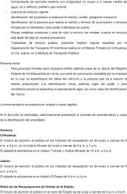 REQUISITOS DE ORDENAMIENTO VEHICULAR PARA EMPLACAR EN HACIENDA DEL