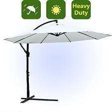 Patio Umbrella Offset Tilt by Cantilever Hanging Patio Umbrella 10 U0027 Offset Tilting Crank Sun