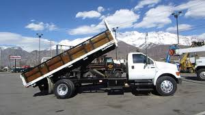100 Medium Duty Dump Trucks For Sale SOLD Flatbed Truck D F750 XL 18 Bed 230 HP Cat 3126 6