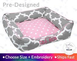 Girly dog bed