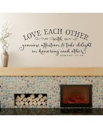 Christian Wall Decor Love Each Other With Genuine Affection Decal Romans 1210 Scripture