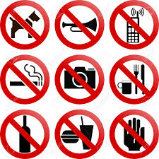 Various Forbidden Signs Royalty Free Cliparts Vectors And Stock