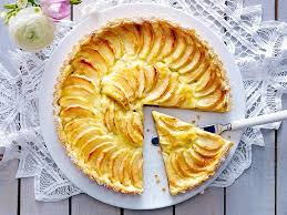 apfel pudding tarte