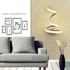 details zu moderne led spiralle warm weiß licht wandhalterung metallle für wohnzimmer
