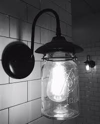 exterior jar wall sconce light with vintage jar the l goods