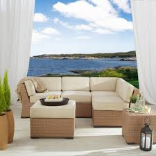 Strathwood Patio Furniture Cushions by Strathwood All Weather Wicker Sectional Patio Furniture
