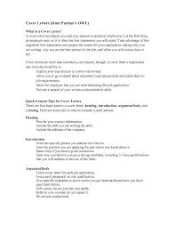 Purdue Owl Resume Cover Letter Example Purdue Owl Cover Letter
