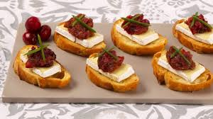 canapes recipes camembert canapés with cranberry pear chutney best recipes