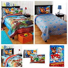 Amazon Nickelodeon Paw Patrol Kids Bed in a Bag Bedding Set